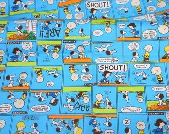 Snoopy print Japanese fabric 50 cm by 106  cm or 19.6 by 42  inches Half Meter