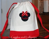 Girl Boys custom personalized Canvas backpack  disney minnie mouse mickey mouse pirate