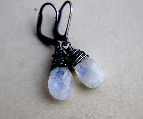 RESERVED Moonstone Earrings, Drop Earrings, Moonstone Jewelry, Dangle Earrings, Gemstone Jewelry, Gemstone Earrings, Sterling Silver,