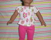 Reserved for weebec American Girl Doll Clothes:  Pajamas and Slippers outfit + tote
