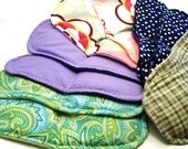 Five Pairs Heat Pack Footwarmer Inserts - Microwave for slippers, socks, bulk gifts for teachers, coworkers, family - rice bag foot warmers