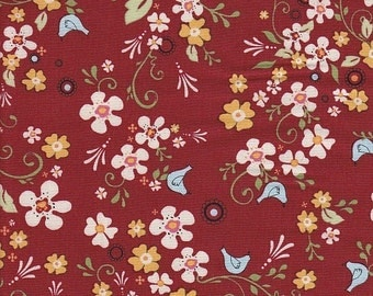 SALE - AdornIt Vintage Tweet in Red - End of Bolt - Last 18 Inches