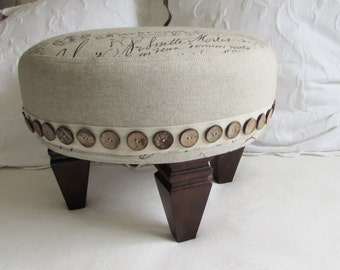 FRENCH TUFFET upholstered Stool/ottoman/tuffet/bench/seating furniture