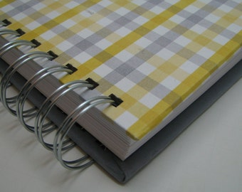 Bridal Shower Guest Book/ Address Guest Book/ Bride to Be/ Replacement Labels/ Guest Book Alternative/ Message to Bride/ Yellow Gray Plaid