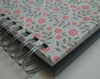 Shower Guest Book/ Address Guest Book/ Bride to Be/ Replacement Labels/ Guest Book Alternative/ Message to Bride/ Pink Gray Floral