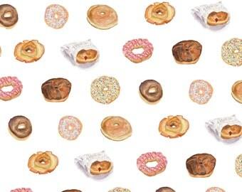 I Love Donut Print Postcard - Single (1) Postcard for Donut Lovers