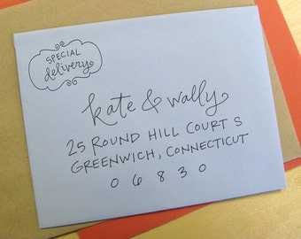 Special Delivery Handwritten Stamp