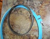 """3 Vintage Hoops -  1 is a Tri-Chem Painting spring hoop - Plastic 10"""" hoop and 6"""" metal cork base hoop"""