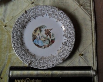 2 Vintage Decorator Plates w/Hanging metals - Triump IT-S 284 *Nasco Mountain Woodland