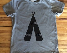 Tepee Handprinted Kids Shirt