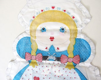 Vintage Dutch Girl Pillow Panel