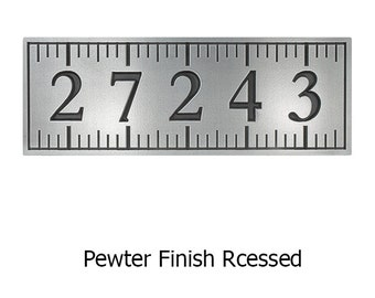 Ruler Address Plaque with 5 Numbers 20x7 Inches Made In The USA