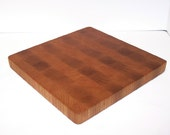 End Grain Cutting Board / Chopping Block Handcrafted from Oak and Cherry Hardwood