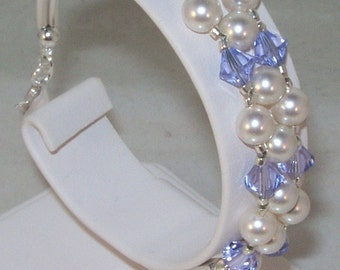 Swarovski Crystal and Pearls Jewelry - Bridal Jewelry - Bride, Bridesmaids, Maid of Honor, FlowerGIrl, Jr Bridesmaids - Any Colors