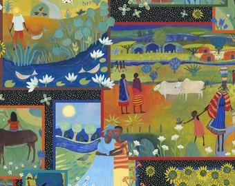 Julia Cairns Fabric Family Life 1/2 Yard