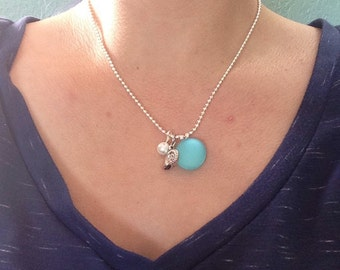 "Tumbled ""sea glass"" ""beach glass"" necklace"