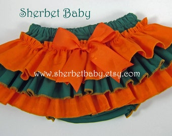 Any Team Colors Sassy Pants Ruffle Diaper Cover Panty Bloomer Skirt