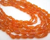 Carnelian Beads, Carnelian Teardrops, Faceted Briolettes,Faceted Carnelian Beads, Orange Gemstone, SKU 4564A