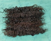 DOLL HAIR / Brown Mohair / combed Natural Dark Brunette / Champion fiber / Reborn / Blythe / Reroot / Wig / BJD/ manes and tails