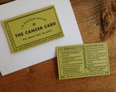 Letterpress Cancer Card