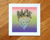 Bear Skull Island -  Print