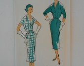 Vintage 50s Slim Dress Pattern New York 1226 Size 16 Bust 34 UNCUT