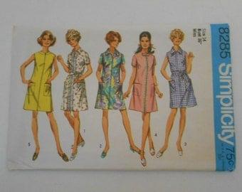 Vintage 60s A Line Dress Pattern Simplicity 8285 Size 14 Bust 36  UNCUT