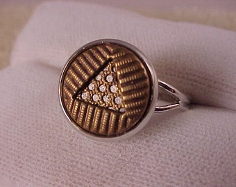 SALE Geometric Clothing Button Adjustable Ring