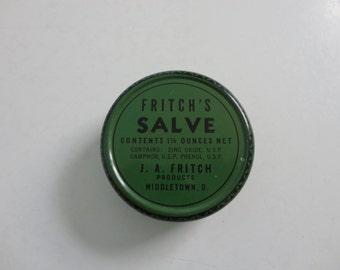 VINTAGE fritch's SALVE TIN