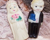 EARLY CELLULOID Bridal Couple Figurines - Made in Japan