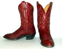 Vintage Womens Hondo cowboy boots size 8 C western fashion -wide width