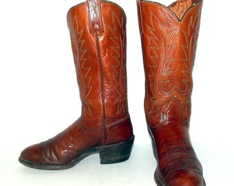 Vintage Womens Cowboy Boots - Dan Post brand size 6 C - cowgirl western