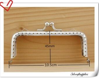 10.5cm  x 4.5cm  Purse frame  Metal purse frame supply Nickel  A62