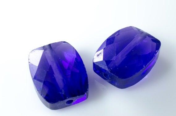 Amethyst CZ Cubic Zirconium Faceted Rectangle Beads