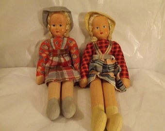 FREE SHIPPING two vintage dolls (Vault 9)