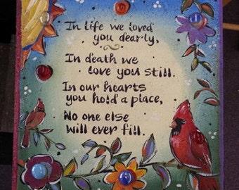 Cardinal, Sympathy Garden Stone
