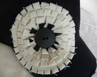Black Military Cadet Cap Hand Made Embellishment All Natural