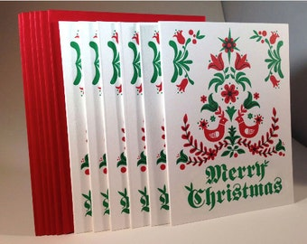 "6 pack Dutch ""Merry Christmas"" letterpressed cards"