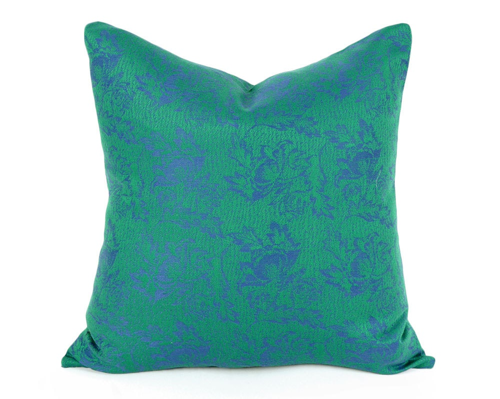 Emerald Green Pillow Cover Green Throw Pillow Green Purple