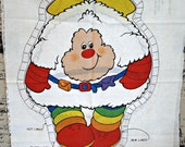 Twink Sprite Rainbow Brite Fabric Panel Kawaii animal 80s doll crafts pillows applique purse bag clothing