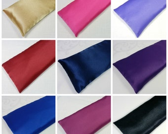 Wholesale 20 Satin Eye Pillows Bulk Eye Pillows Lot - 8 inch or 10 inch length - your choice of Lavender or Unscented