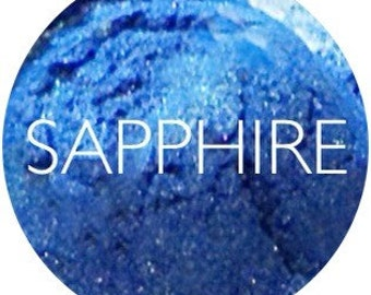 Sapphire Blue Mineral Eye Shadow • Mineral Makeup • Natural Gluten Free Mineral Makeup • Earth Mineral Cosmetics