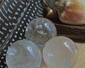 Quartz Crystal // Crystal Ball // Quartz Sphere // Wicca Crystals // Metaphysical Tools // Crystal Healing // Altar Stones // Reiki // Boho