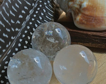 Quartz Crystal // Crystal Ball // Quartz Sphere // Wicca Crystals // Metaphysical Tools // Crystal Healing // Altar Stones // Reiki // Boho