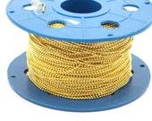 20 Meters 16.5 feet 1.5 mm Gold Tone Brass Ball Chain - ( Z081 )