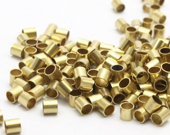 250 Raw Brass Tubes (3x3mm) Bs 1437