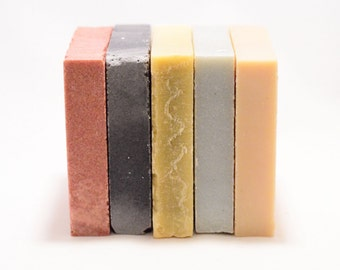 Soap Trio - Pick Three. Rose, Seaweed, Charcoal, Blood Orange, Jasmine