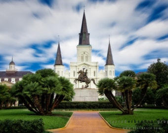 Jackson Square, New Orleans - St. Louis Cathedral Fine Art Print