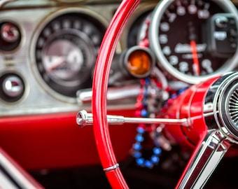 Classic Chevy Interior - Fine Art Print