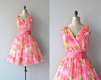 Love in Bloom dress | vintage 1950s dress | floral print 50s dress